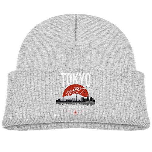 MUPTQWIU Tokyo - 'I Don't Speak Japanese' White Version Children's Beanie Hat Cap Cuffed Knit Beanie Hat Gray -