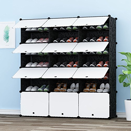 JOISCOPE Portable Shoe Storage Organzier Tower, Modular Shoe Cabinet for Space Saving, Shoe Racks Ideal for Shoes, Boots, Slippers,3/7