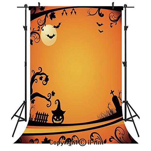 Vintage Halloween Photography Backdrops,Halloween Themed Image Eerie Atmosphere