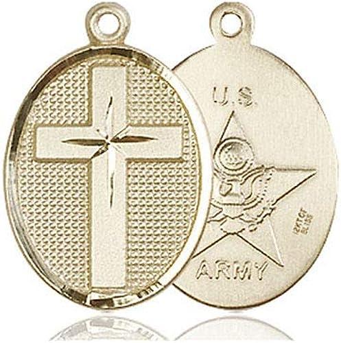 DiamondJewelryNY 14kt Gold Filled Cross//Army Pendant