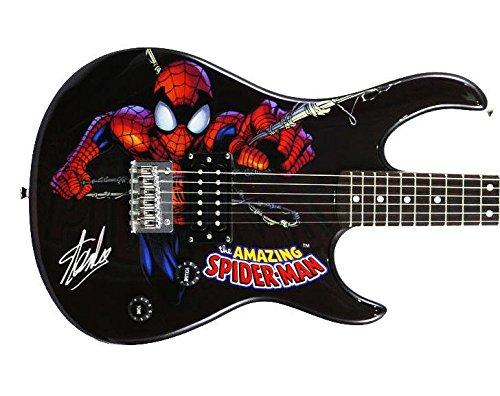 Stan Lee Signed Peavey Rockmaster Marvel Spiderman Guitar W/ Stan Lee