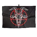 RUNNING BEAN Storm Goat Pentagram Golf Towel Fashion Sports Towel Player Towel