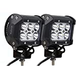 Kaleep 2pcs 18W Spot LED Work Light Driving Fog Light Off Road Waterproof Tail Light CREE LED Light Bar Super Bright for SUV Jeep Truck Car ATVs Boat , 9-32V 2260LM ,2 Year Warranty