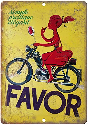 Killy Favor Motorcycle Wall Tin Sign Retro Plaque Iron Painting Vintage Metal Sheet Creativity Fashion Poster Funny Art Personalized Decoration Crafts for Bar Cafe Garage Home