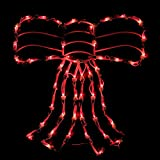 Northlight 18'' Lighted Red Bow Christmas Window Silhouette Decoration