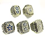 Dallas Cowboys Super Bowl 5 Ring Set 1971 VI, 1977 XII, 1992 XXVII, 1993 XXVIII, 1995 XXX (10)