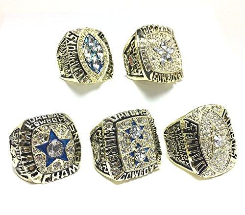 Dallas Cowboys Super Bowl 5 Ring Set 1971 VI, 1977 XII, 1992 XXVII, 1993 XXVIII, 1995 XXX - Dallas Bowl Cowboys 1992 Super