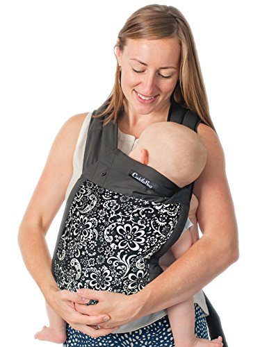 CuddleBug 3-in-1 Mei Tai Carrier With Hood - 100% Cotton Mei Tai Front Carrier - Fully Adjustable - Baby Shower Gift - Perfect for Nursery Sets - Unisex! (Washed Down Chino Pants)