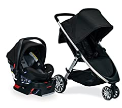 Cruise smooth with the B Lively & B Safe Ultra Travel System combining the Britax B Lively Lightweight Stroller, B Safe Ultra Infant Car Seat, and Britax car seat adapters in one convenient box. Featuring an all wheel suspension system fo...