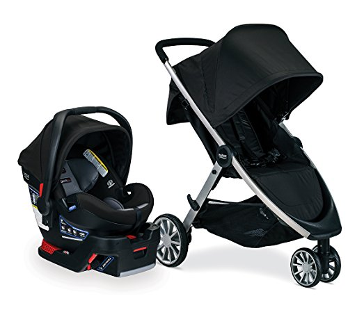 Britax B-Lively Travel System with B-Safe Ultra Infant Care Seat, Noir - Birth to 55 pounds