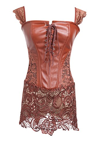 Gorgeous Embroidered Mesh Bustier - 1
