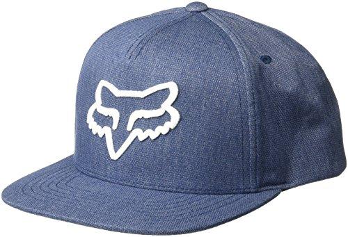 Hat Adjustable Fox - Fox Men's Flat Bill Snapback Hat, Heather Midnight, OS