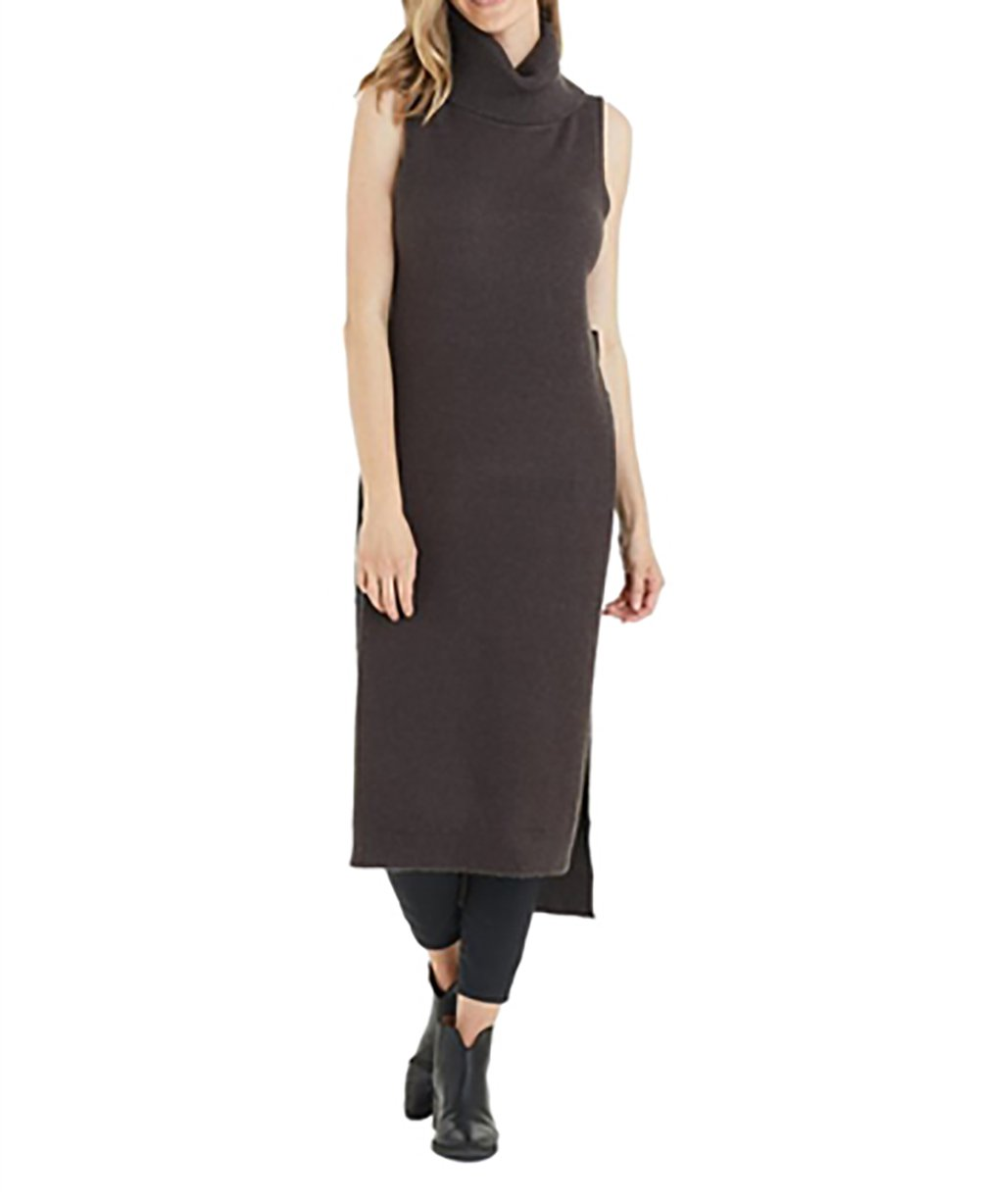 Love Token Camille Open Sides Top In Charcoal (Medium)