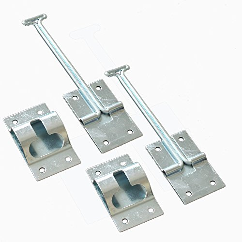 X-Haibei 2 set T-Style Entry Door Catch Latch Holder Alloy RV Camper Trailer Cargo (6 INCH)