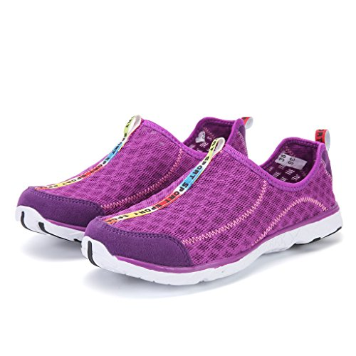Unisex 1 Breathable Shoes Drying Driving Quick On bevoker Shoes Slip Water Aqua Mesh Purple Shoes Beach ZUqtaT