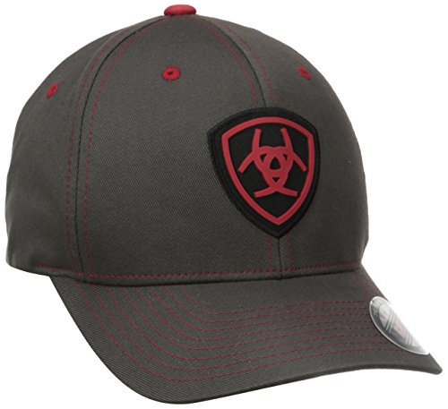 Hat Flex Cap (Ariat Men's Flex Fit Hat, Gray, Large/X-Large)