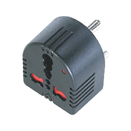 Mx Conversion MX1359 Plug Converts 5 Amps To 15 Amps 3 Socket with Child  Safety Shutter