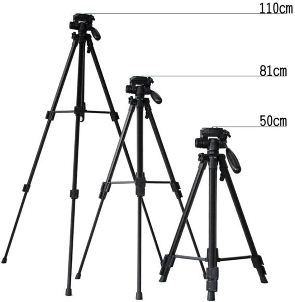 Color : Black, Size : One Size BWAM-elck Travel Tripod Monopod Professional Portable Aluminum Extendable Camera Photography Tripod with Pan Head for Camera DSLR Camcorder Ideal for Travel and Work