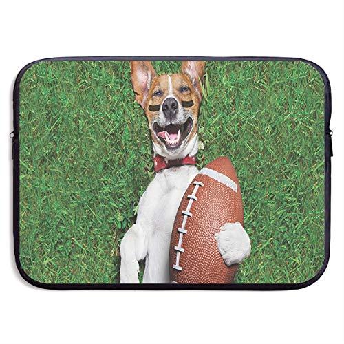 Soccer Dog Holding A Rugby Ball Laptop Bag, Computer Bag,Bags Cover for Notebook,Design Custom Laptop Bag