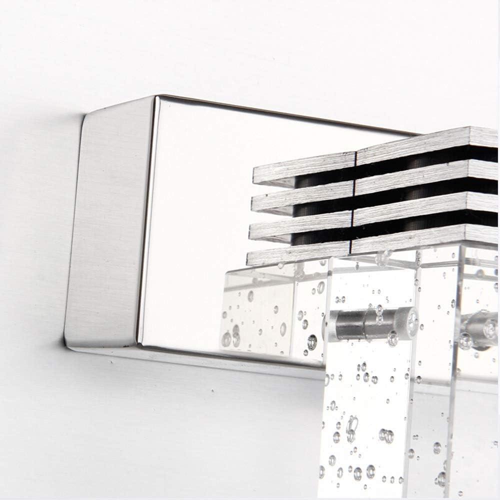 Living Lights parete della stanza Di lusso della lampada di cristallo Bagno gabinetto Dresser, tre luci LED Lamp Specchio Bagno gabinetto (Color : Warm white) White