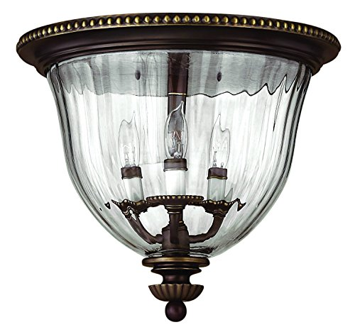 Hinkley 3612OB Traditional Three Light Flush Mount from Cambridge collection in (Hinkley Oxford Collection)