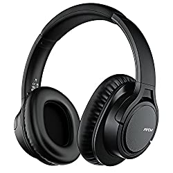 Mpow H7 Bluetooth Headphones Over Ear, Stereo Wireless Headset With Microphone & Comfortable Memory-protein Earpads & 15 Hours Playtime & Wired & Wireless Headphones For Cellphonetablet
