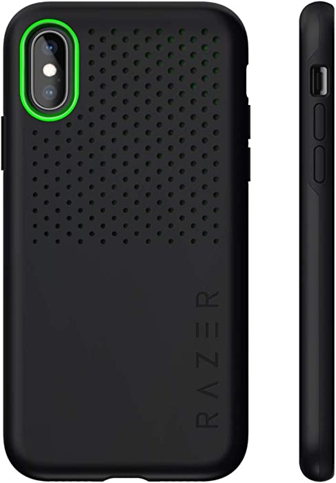 Razer Arctech Pro for iPhone Xs Case/iPhone X Case: Thermaphene & Venting Performance Cooling - Wireless Charging Compatible - Drop-Test Certified up to 10 ft - Matte Black - RC21-0145PB02-R3M1