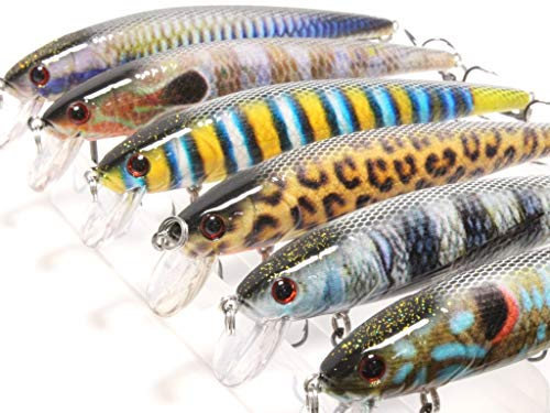 wLure Minnow Crankbait Fishing Lure for Bass Fishing