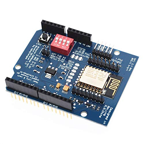 Merssavo UNO R3 Esp8266 Serials Module WLAN WIFI Internet Development Board WIFI Extension Board For Remote Control Of Electrical Appliances/Models/Four-axis Aircraft, IoT Device ()
