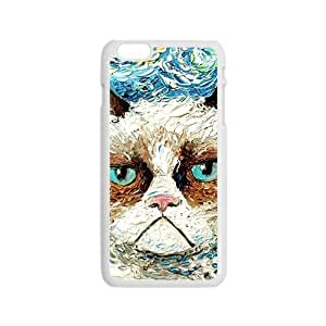 MMZ DIY PHONE CASEAggrieved White cat Cell Phone Case for Iphone 6