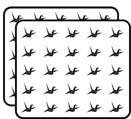 Origami Crane Sticker for Scrapbooking, Calendars, Arts, Kids DIY Crafts, Album, Bullet Journals 50 Pack