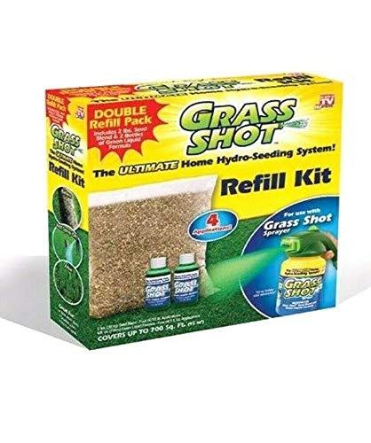 Grass Shot Liquid Spray Lawn Fertilizer Hydro Seeding Mousse Grass Seed Refill ()