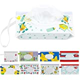 Biubee 8 Pcs Reusable Wet Wipe Pouch- Portable Wet Wipes Dispenser Holder Case for Baby or Personal Travel Use