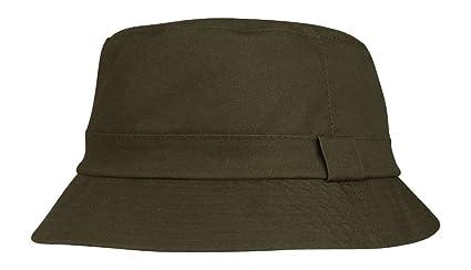 Amazon.com   Juniper Unisex Waxed Cotton Canvas Bucket Hat-J9702 ... 1113534405b