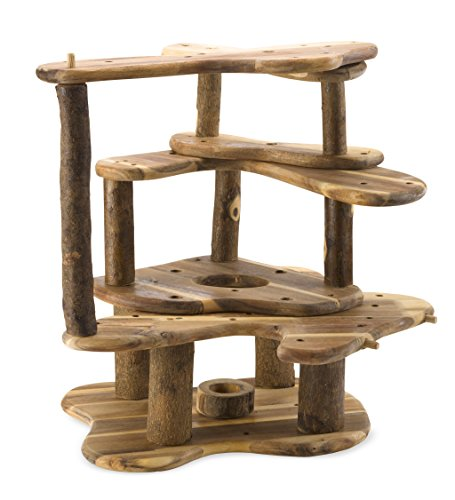 Rustic wooden tree fort buy online in bahrain toy for Magic cabin tree fort kit