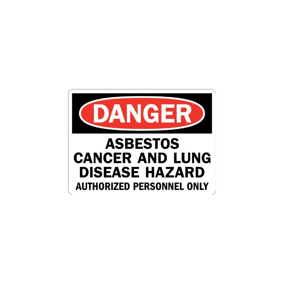 SmartSign 3M Engineer Grade Reflective Sign, Legend Danger Asbestos Cancer and Lung Disease Hazard, 7 high x 10 wide, Black/Red on White
