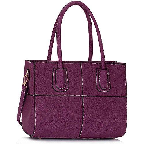 TrendStar - Bolsa Mujer Morado - Purple Shoulder Bag