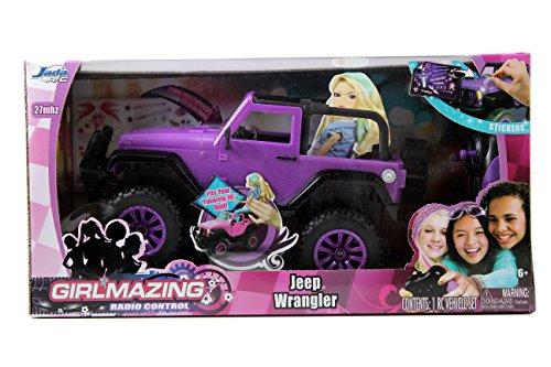 Jada-Toys-GIRLMAZING-Big-Foot-Jeep-RC-Vehicle-116-Scale-Purple