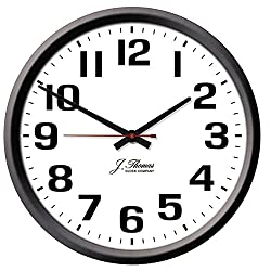 J. Thomas Ohm Electric Wall Clock - 10 Diameter. Perfect as an Office Wall Clock The Home. Automatically Adjusts Daylight Savings Time - No Signal Required. Proudly Made in The USA!