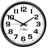J. Thomas Ohm Electric Wall Clock – 10″ Diameter. Perfect as an Office Wall Clock The Home. Automatically Adjusts Daylight Savings Time – No Signal Required. Proudly Made in The USA!