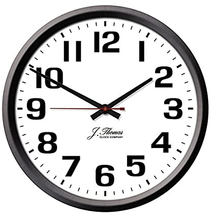 Gentil Ohm Electric Wall Clock   10u0026quot; Diameter. Perfect As An Office Wall Clock  Or