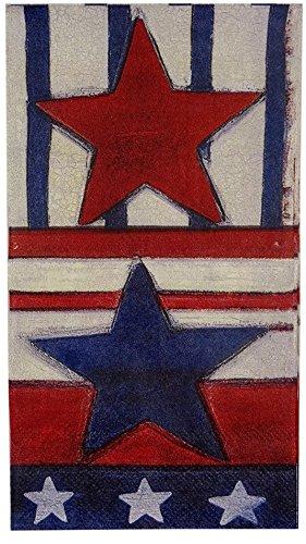 - Greenbrier Patriotic Stars 2-ply Guest Towels Hostess Buffet Paper Napkins, 16 ct