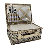 Small 2 Person Chipwood Picnic Basket