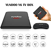 YUNDOO Y6 2G 32G Smart Box Android 6.0 4K Smart OTT Box AML S905X Quad Core Miracast Support HDR VP9 HEVC BT4.0 DLNA 2.4G 5G Wifi with I8 Mini Keyboard