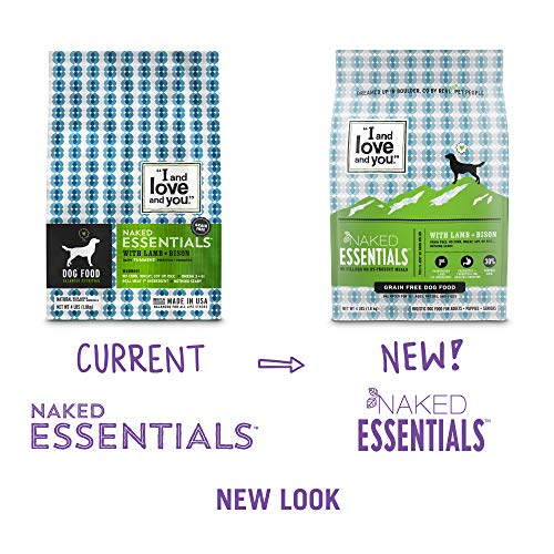 ''I and love and you'' Naked Essentials Lamb & Bison Grain Free Dry Dog Food, 40 LB by I and love and you (Image #2)