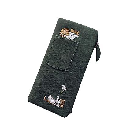 d297755bb752 Amazon.com: E-House Cute Cat Cartoon Long Wallet for Women Fashion ...