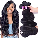 Cheap Brazilian Virgin Hair Body Wave 4 bundles 12 14 16 18 inches 400g Unprocessed Brazilian Body Wave Human Hair Weave for Women Natural Black Color Tangle Free