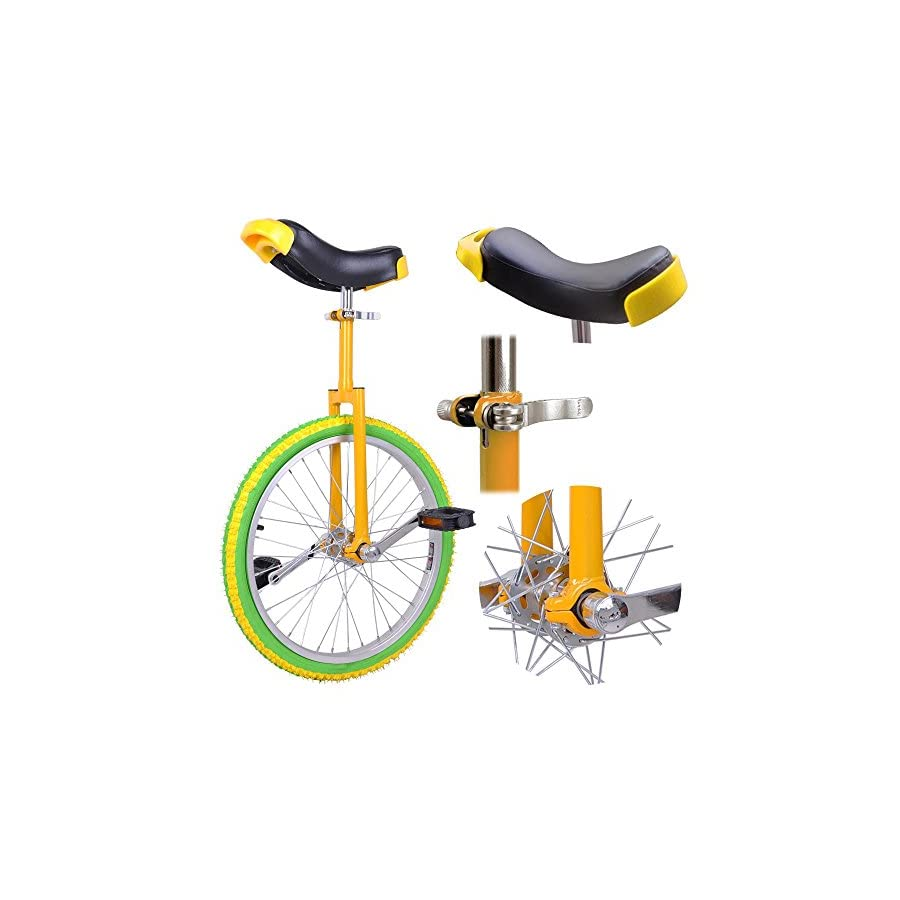 """AW 20"""" Inch Chrome Wheel Unicycle Leakproof Butyl Tire Wheel Cycling Outdoor Sports Fitness Exercise"""