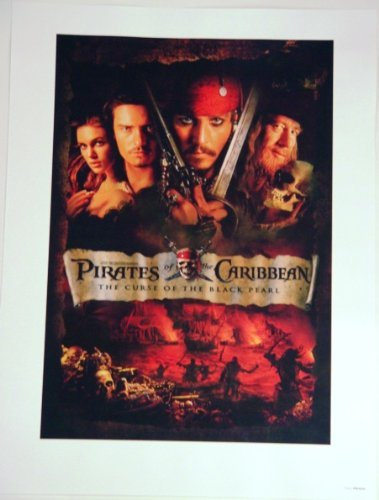 disneyland pirates of the caribbean poster