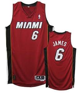 LeBron James Miami Heat #6 Revolution 30 Authentic Adidas NBA Basketball Jersey (Alternate Red)